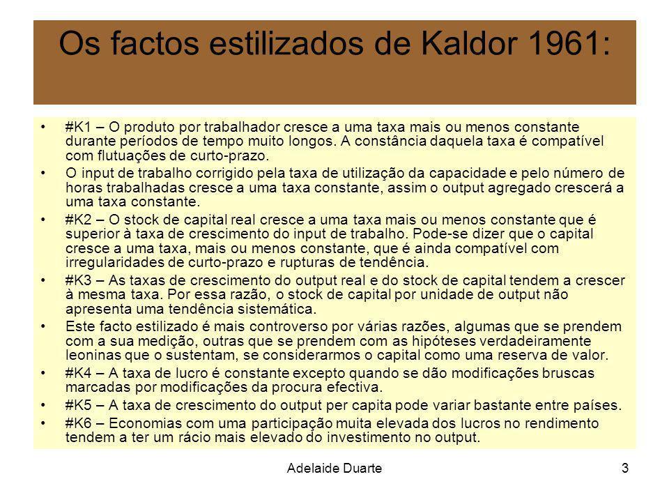 Os factos estilizados de Kaldor 1961: