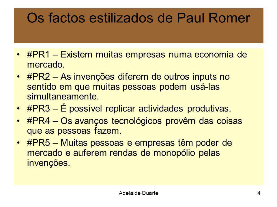 Os factos estilizados de Paul Romer