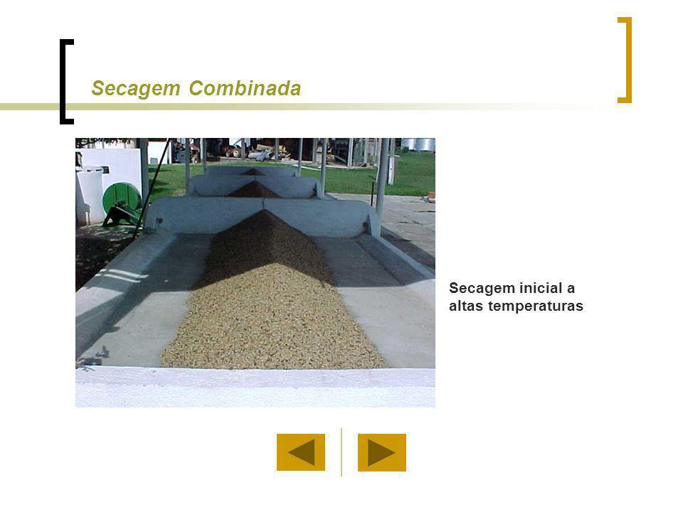 Secagem Combinada Secagem inicial a altas temperaturas