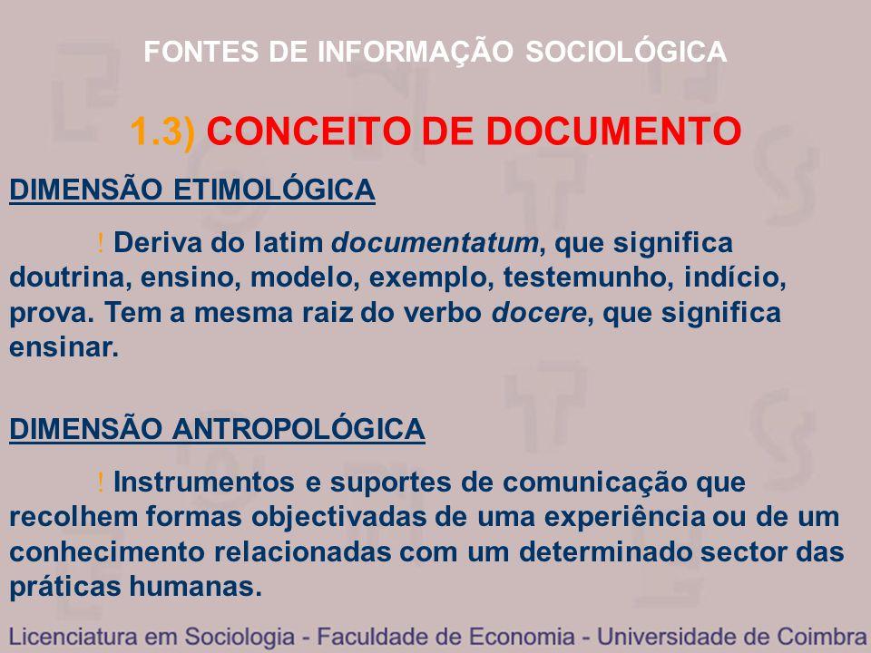 1.3) CONCEITO DE DOCUMENTO