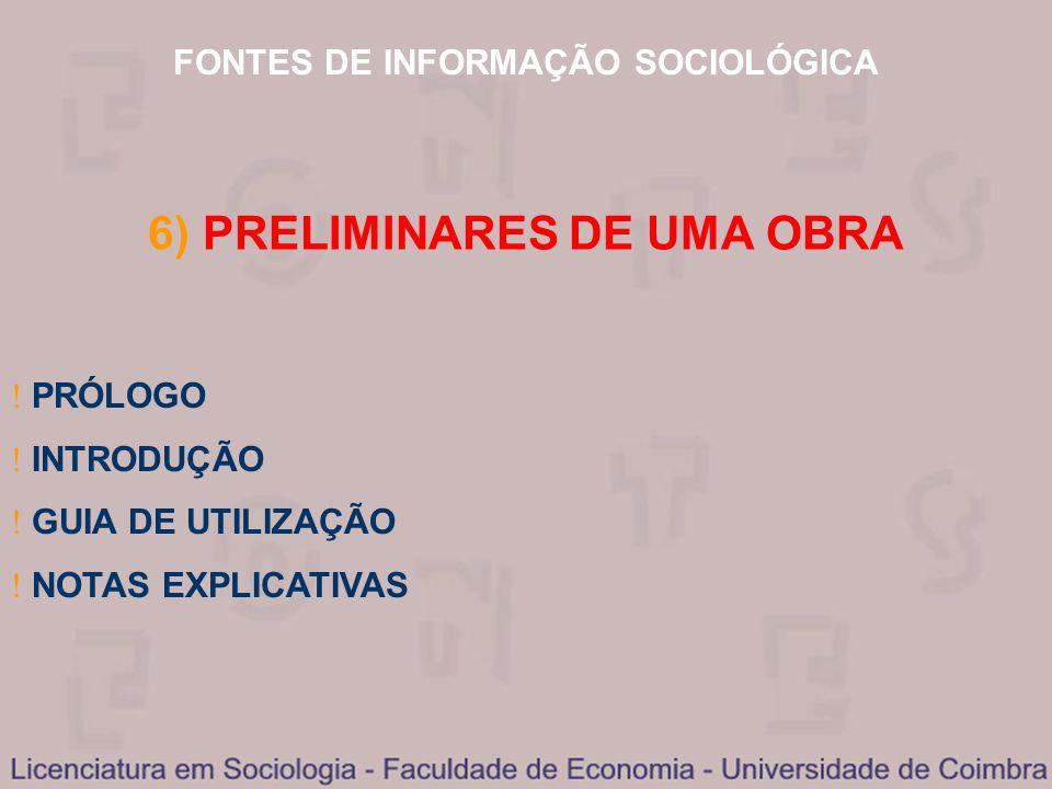 6) PRELIMINARES DE UMA OBRA