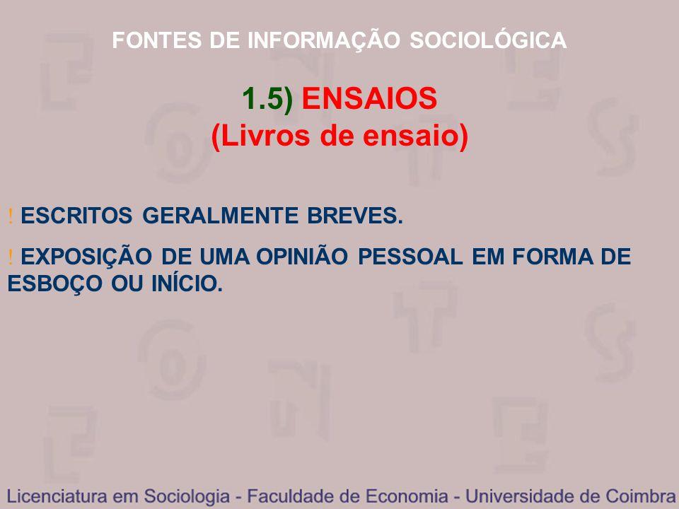 1.5) ENSAIOS (Livros de ensaio)