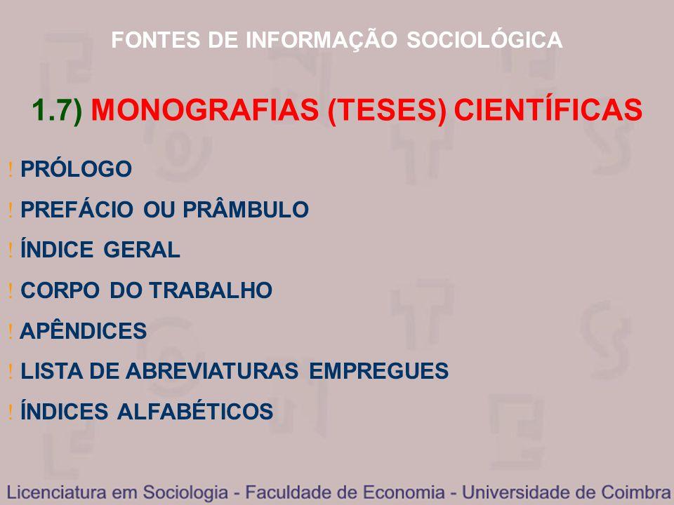 1.7) MONOGRAFIAS (TESES) CIENTÍFICAS