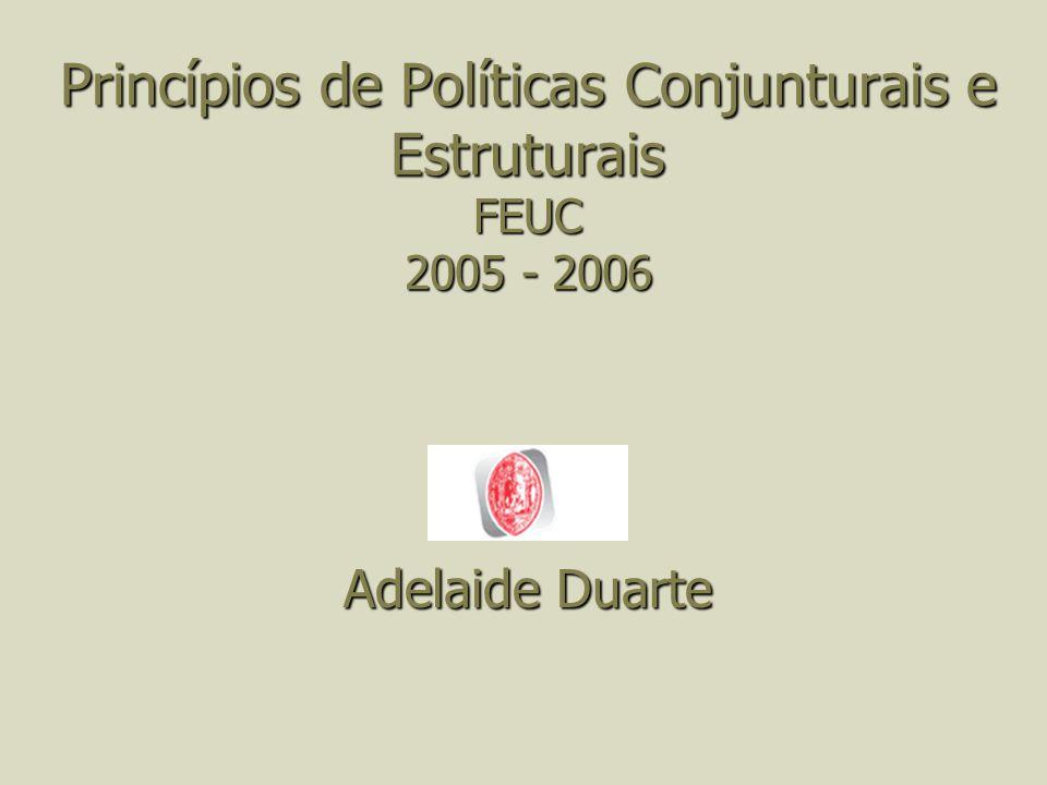 Princípios de Políticas Conjunturais e Estruturais FEUC 2005 - 2006