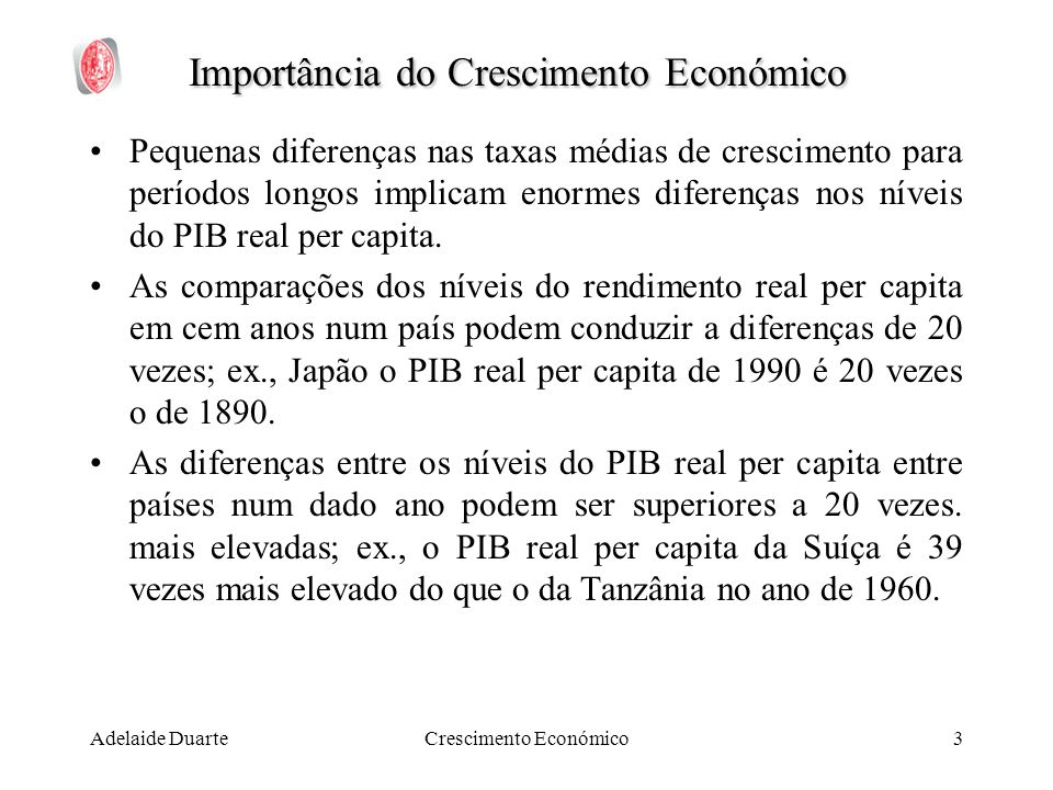 Importância do Crescimento Económico