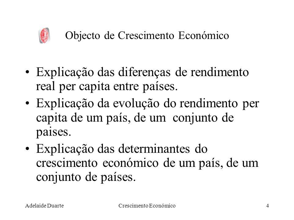 Objecto de Crescimento Económico