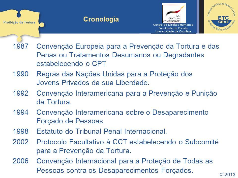 1992 Convenção Interamericana para a Prevenção e Punição da Tortura.