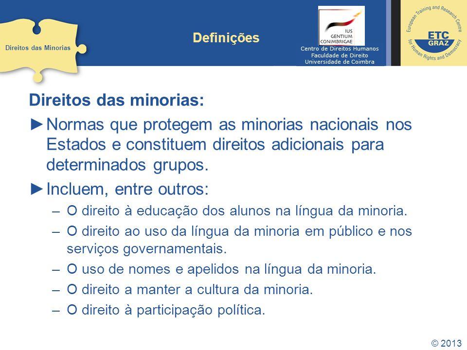 Direitos das minorias: