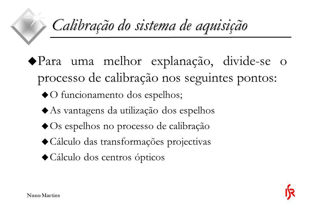 Calibração do sistema de aquisição