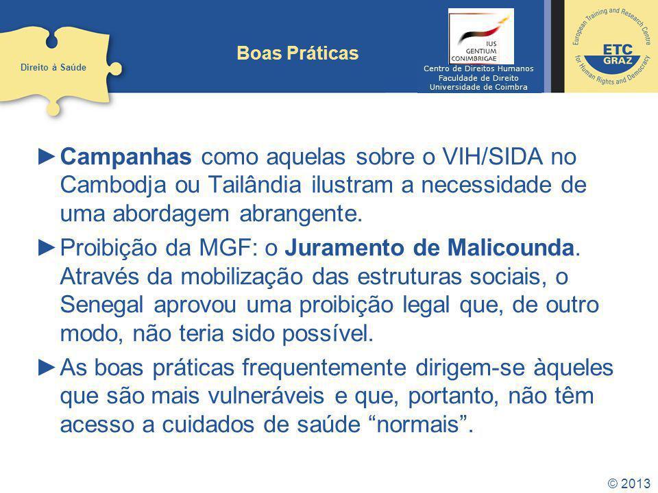 Boas Práticas Direito à Saúde. Centro de Direitos Humanos. Faculdade de Direito. Universidade de Coimbra.