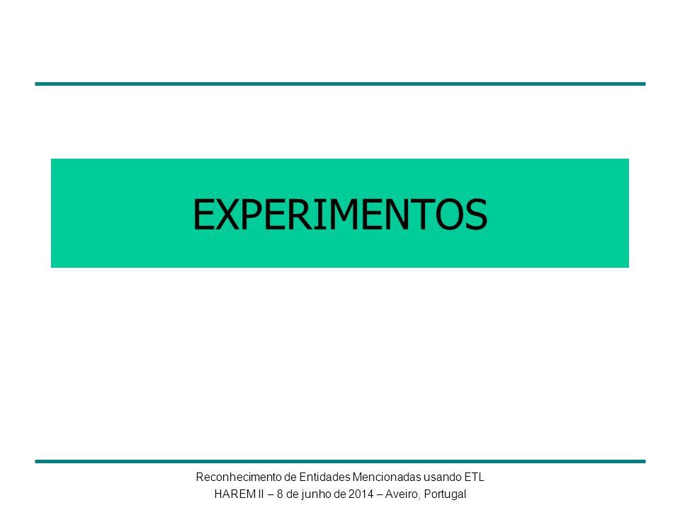 EXPERIMENTOS Reconhecimento de Entidades Mencionadas usando ETL