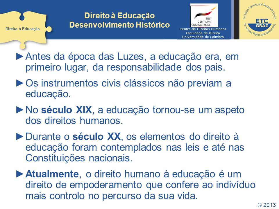 Direito à Educação Desenvolvimento Histórico