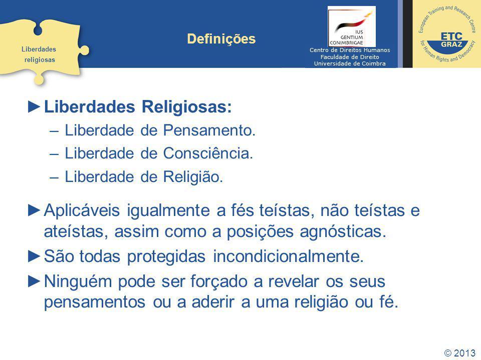 Liberdades Religiosas: