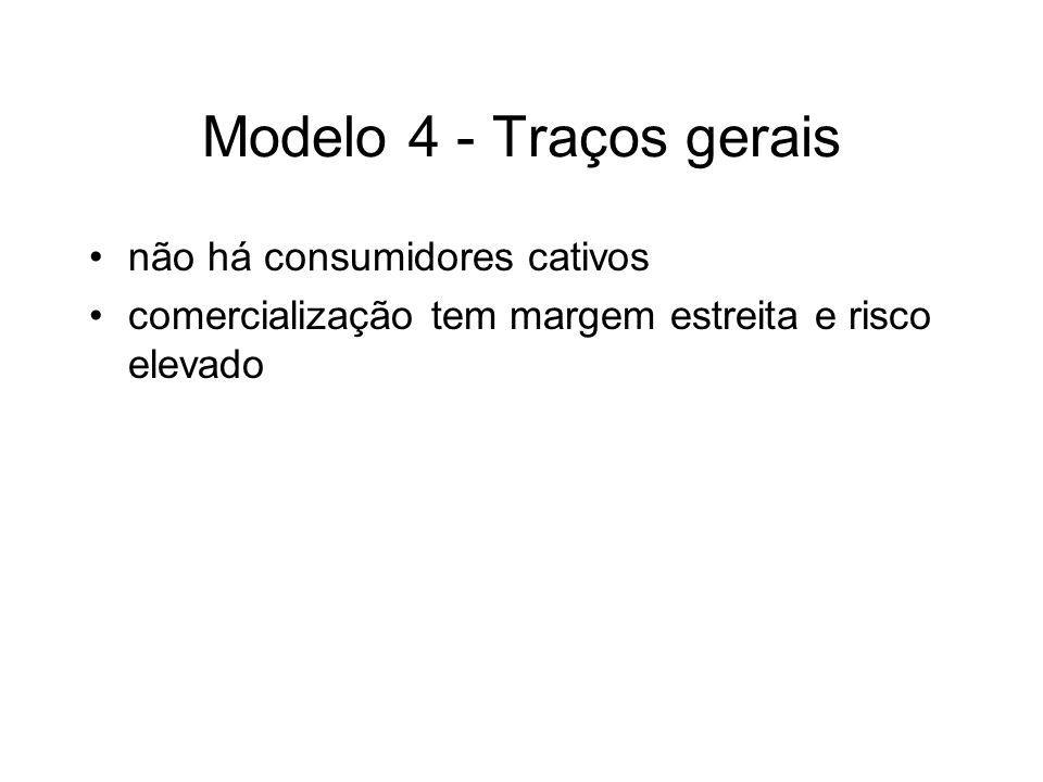 Modelo 4 - Traços gerais não há consumidores cativos