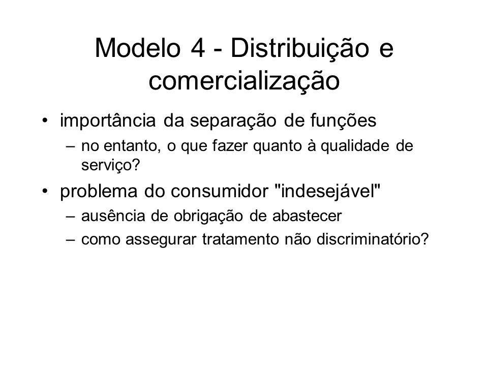 Modelo 4 - Distribuição e comercialização