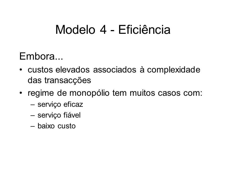 Modelo 4 - Eficiência Embora...