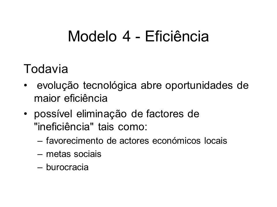 Modelo 4 - Eficiência Todavia