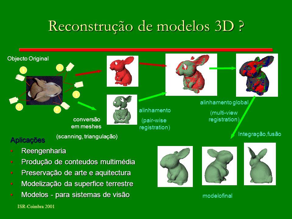 Reconstrução de modelos 3D