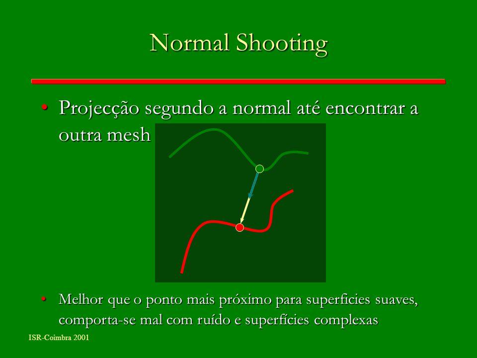 Normal Shooting Projecção segundo a normal até encontrar a outra mesh