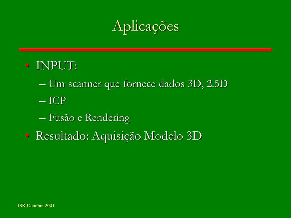 Aplicações INPUT: Resultado: Aquisição Modelo 3D