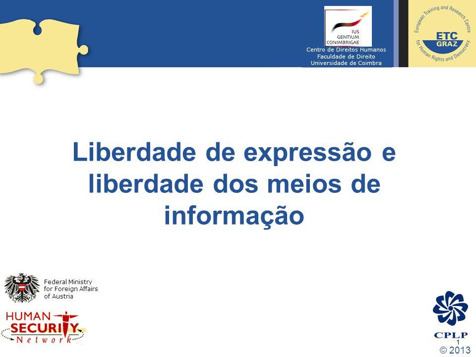 Liberdade de expressão e liberdade dos meios de informação