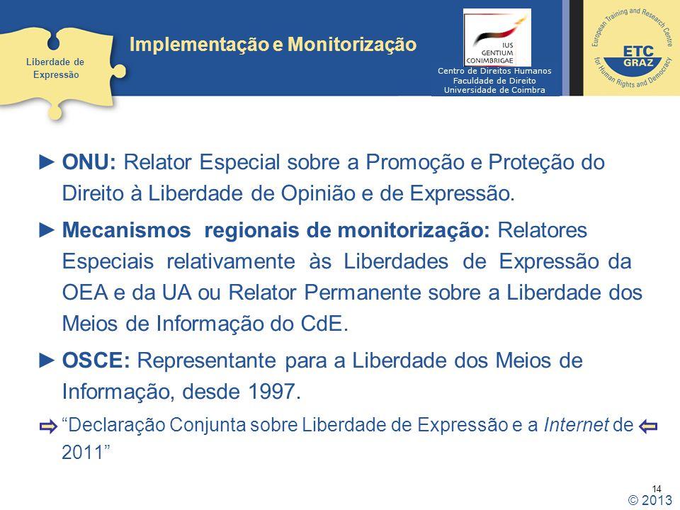 Implementação e Monitorização