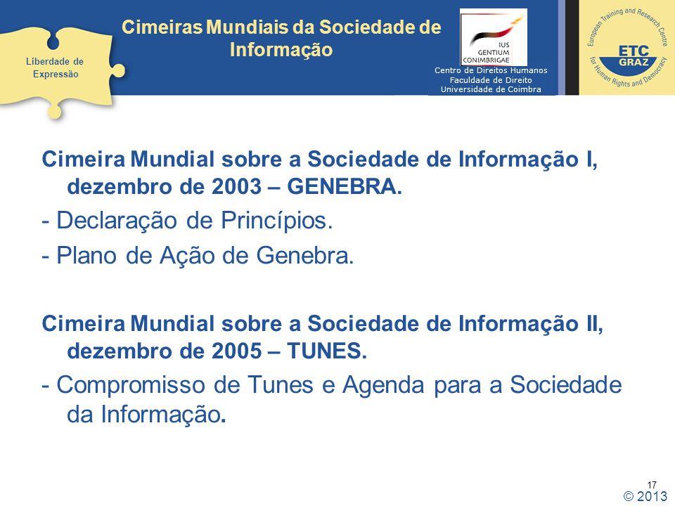 Cimeiras Mundiais da Sociedade de Informação
