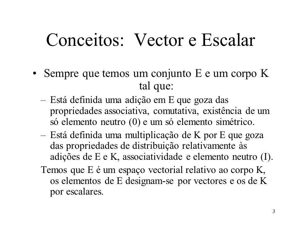 Conceitos: Vector e Escalar