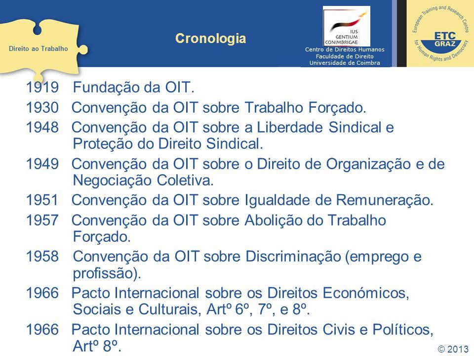 Convenção da OIT sobre Trabalho Forçado.