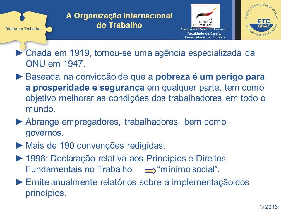 A Organização Internacional do Trabalho
