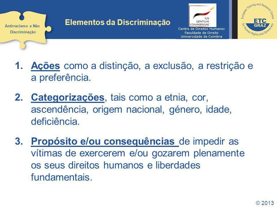 Elementos da Discriminação