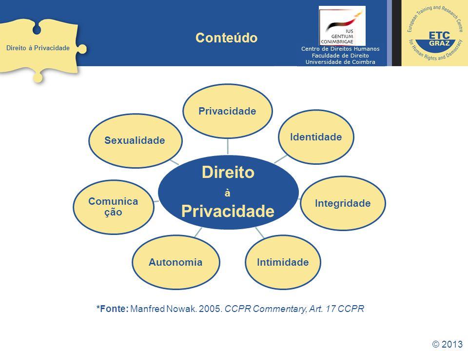 Direito Privacidade Conteúdo à Identidade Integridade Intimidade