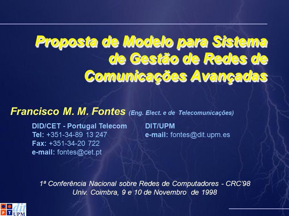 Francisco M. M. Fontes (Eng. Elect. e de Telecomunicações)