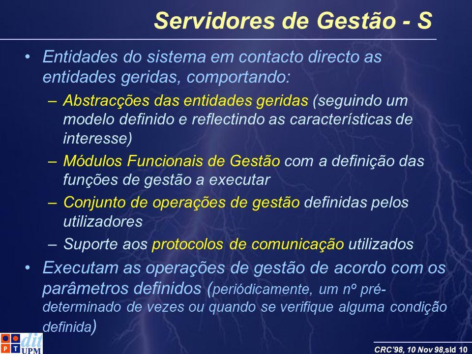 Servidores de Gestão - S