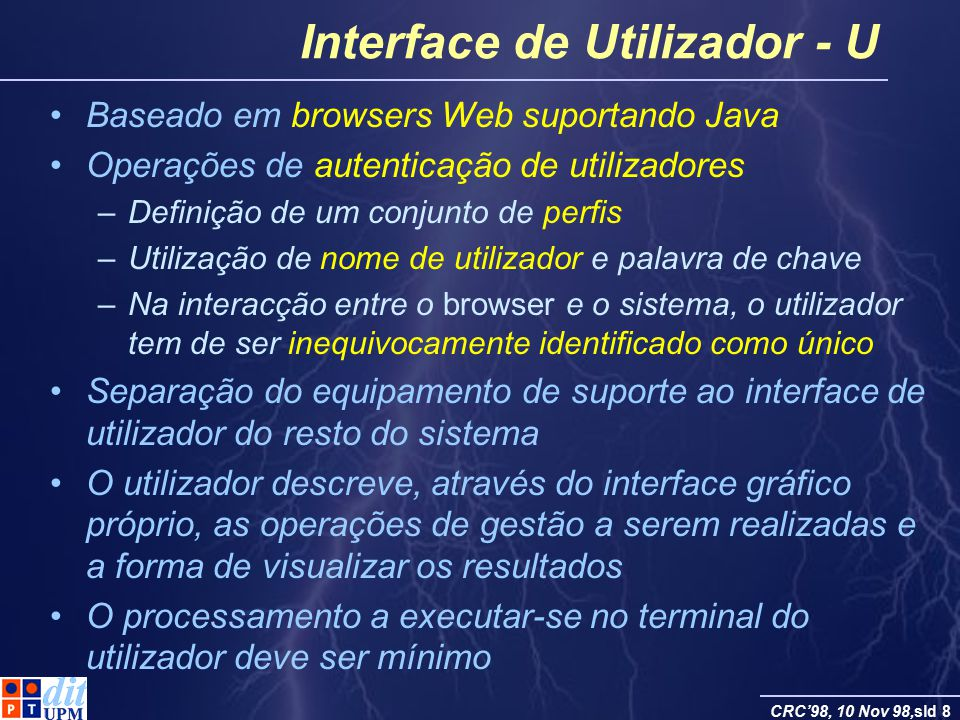 Interface de Utilizador - U