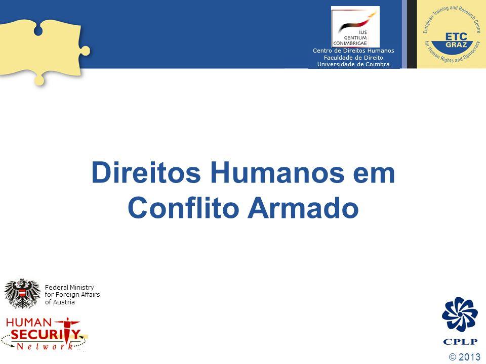 Direitos Humanos em Conflito Armado