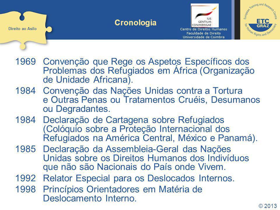 1992 Relator Especial para os Deslocados Internos.