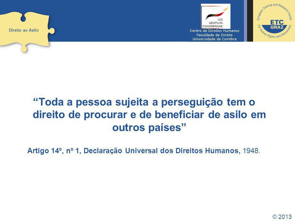 Direito ao Asilo Centro de Direitos Humanos. Faculdade de Direito. Universidade de Coimbra.