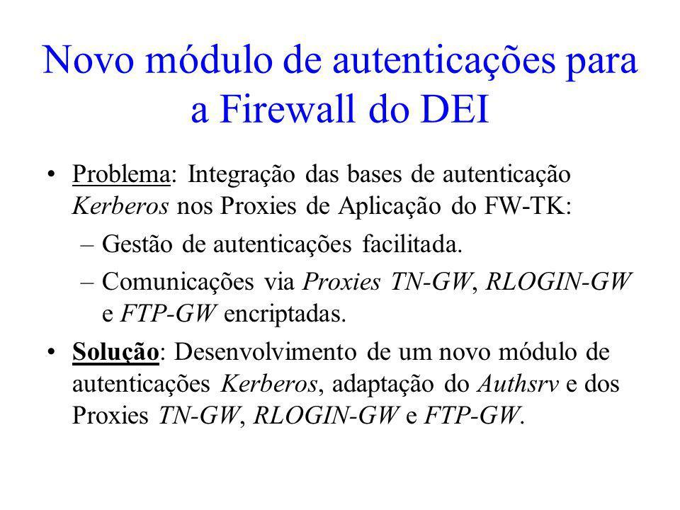 Novo módulo de autenticações para a Firewall do DEI