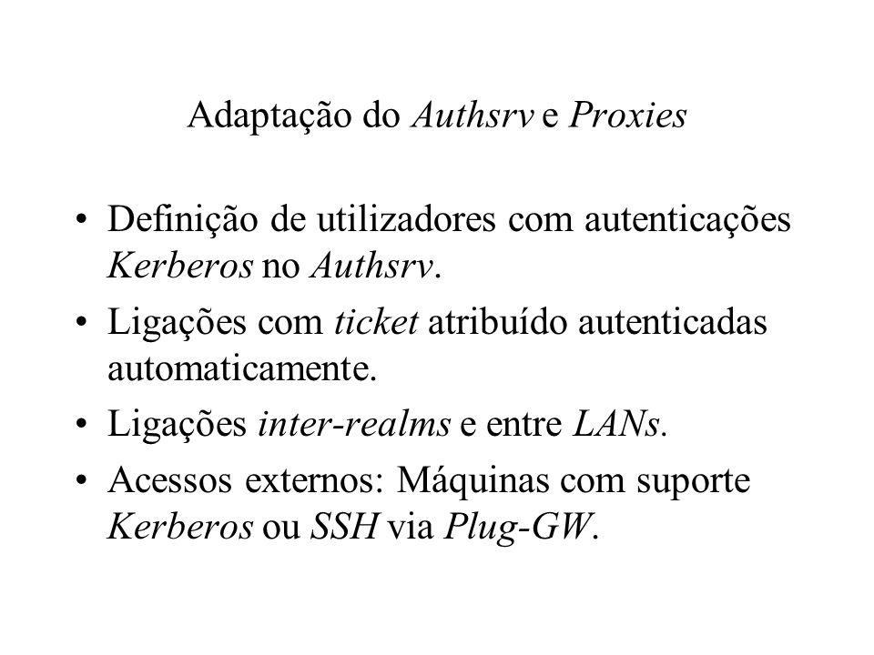 Adaptação do Authsrv e Proxies