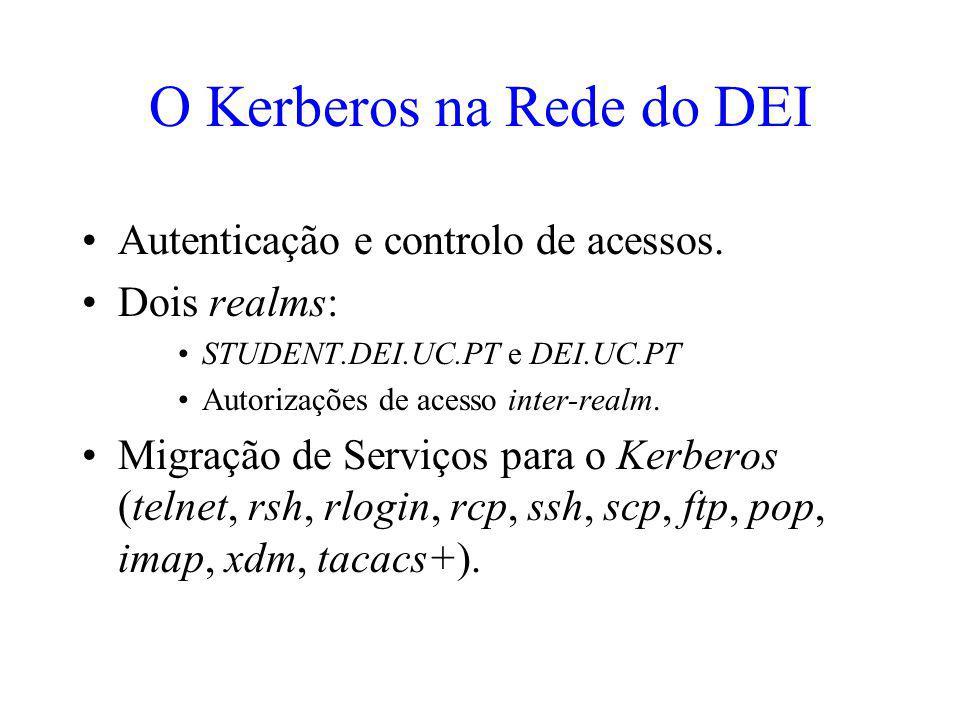 O Kerberos na Rede do DEI