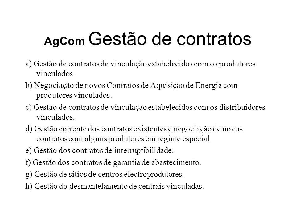 AgCom Gestão de contratos