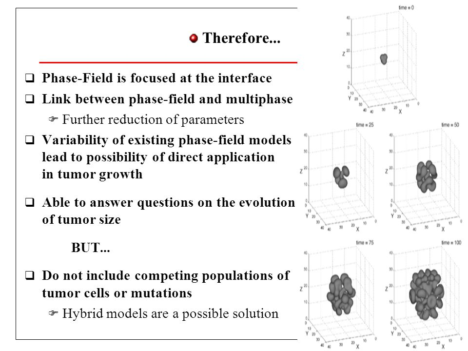 Therefore... Phase-Field is focused at the interface