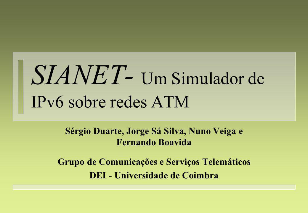 SIANET- Um Simulador de IPv6 sobre redes ATM