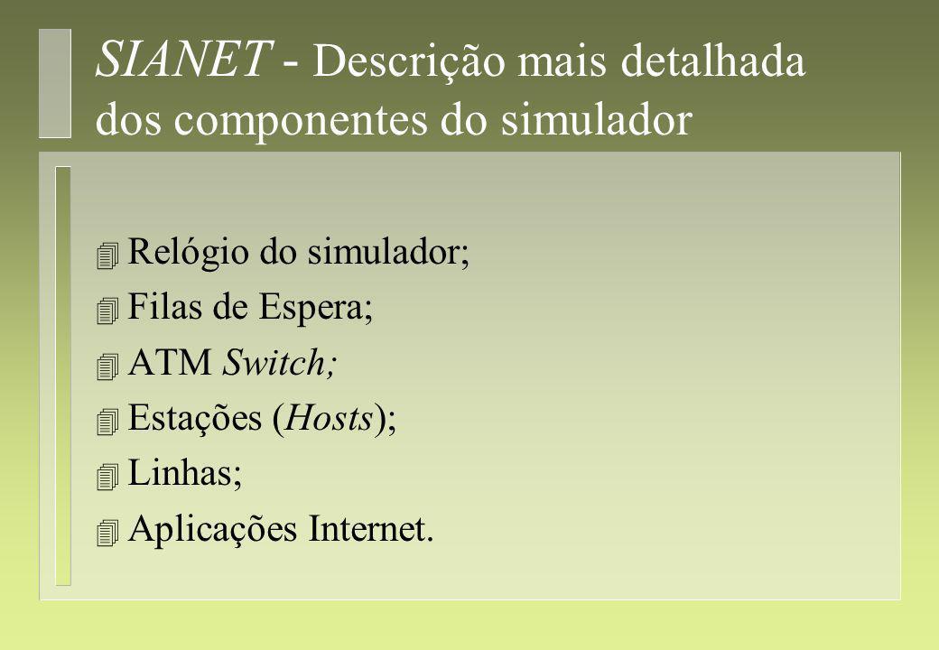 SIANET - Descrição mais detalhada dos componentes do simulador