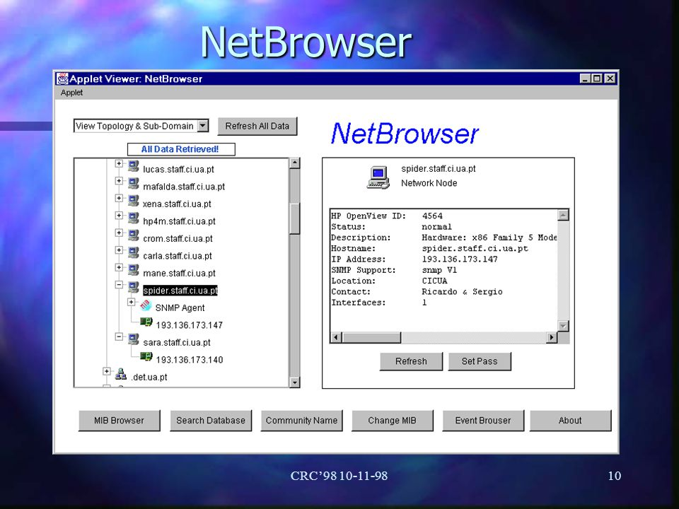 NetBrowser CRC'98 10-11-98