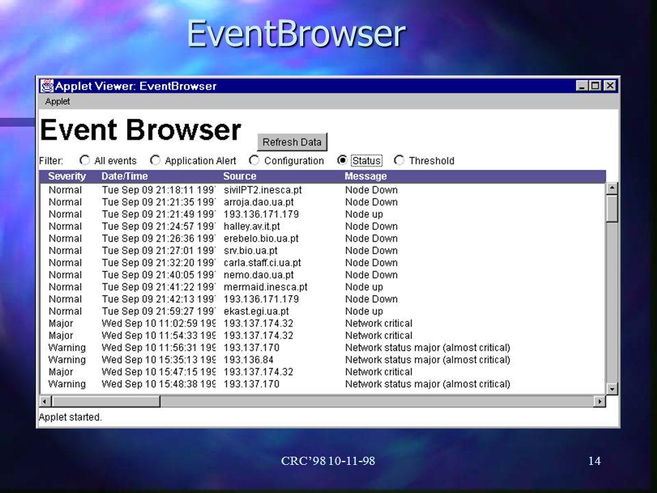 EventBrowser CRC'98 10-11-98