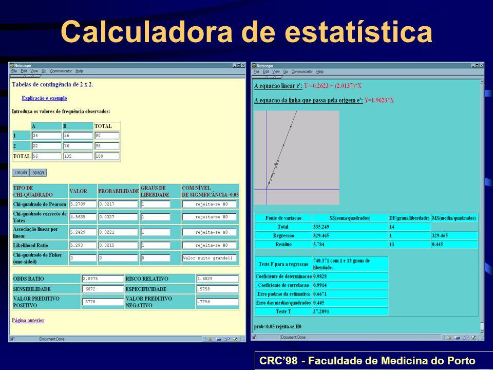 Calculadora de estatística