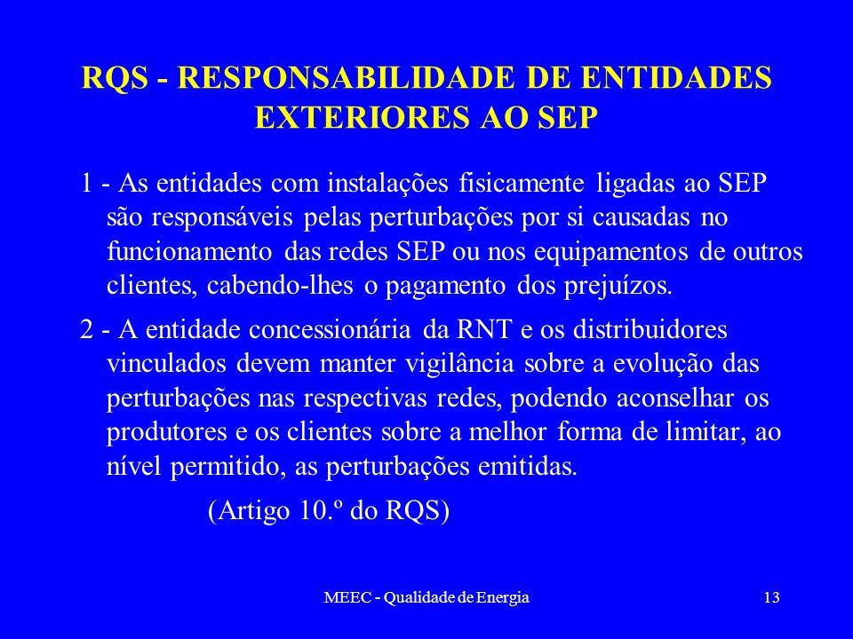 RQS - RESPONSABILIDADE DE ENTIDADES EXTERIORES AO SEP