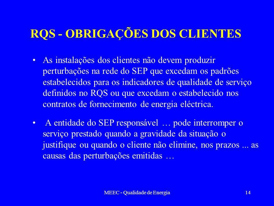 RQS - OBRIGAÇÕES DOS CLIENTES